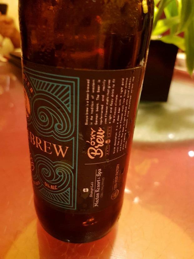 フィリピン・セブ島シャングリラマクタン限定クラフトビールと中華